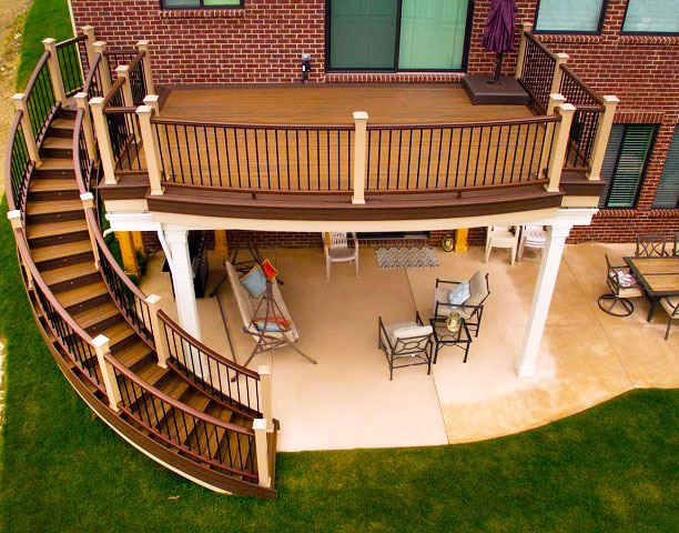 how to build curved stairs for a deck