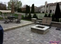 Firestone Pit and Stone Patio by Michigan Contractor Woodcraft Design & Build