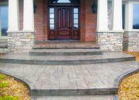 stamped concrete entry way